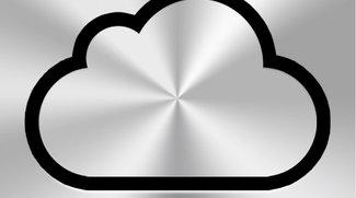 iCloud: Deals mit Musik-Labels stehen - iCloud-Logo im Moscone Center zu sehen