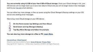 iCloud: Mehr als 5 Gigabyte gegen Gebühr
