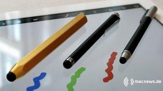 Wacom Bamboo Stylus, Just Mobile AluPen und Griffin Stylus: Eingabestifte für iPad und Co im Test