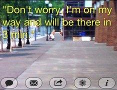 Mobile Typer für gefahrloses SMS schreiben beim Laufen