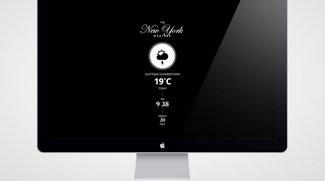 Designer-Uhr und Wetteranzeige für Mac und iOS