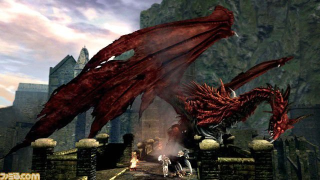 """Dark Souls: Dieser Drache ist einer der ersten Bosse und vergleichsmäßig """"leicht"""""""
