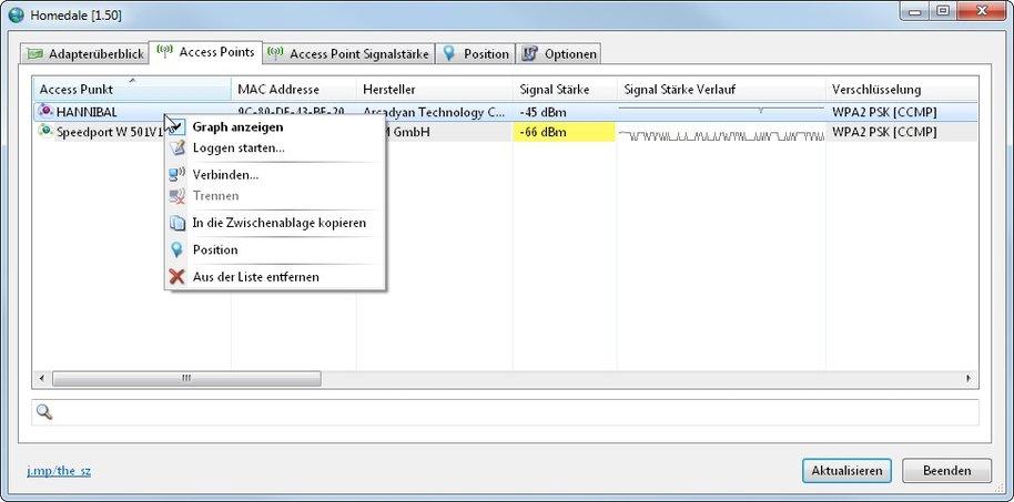 Geniales, kleines Netzwerk-Tool für jeden, der öfters verschiedene WLAN-Zugänge nutzen muss - Homedale