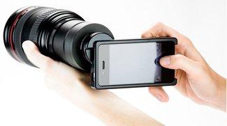 iPhone SLR Mount verbindet Kamera-Objektiv mit iPhone