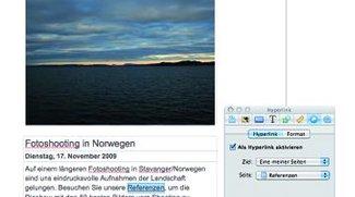 Webseitenbau mit iWeb