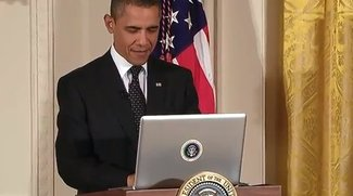 Twitter Town Hall: US-Präsident Obama twittert mit MacBook Pro