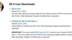 Für iCloud Beta 5: Apple lässt Entwickler Mac OS X 10.7.2 testen