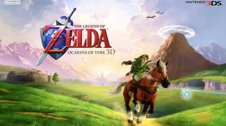 The Legend of Zelda: Ocarina of Time 3D - Bundle mit Nintendo 3DS im Zelda-Design