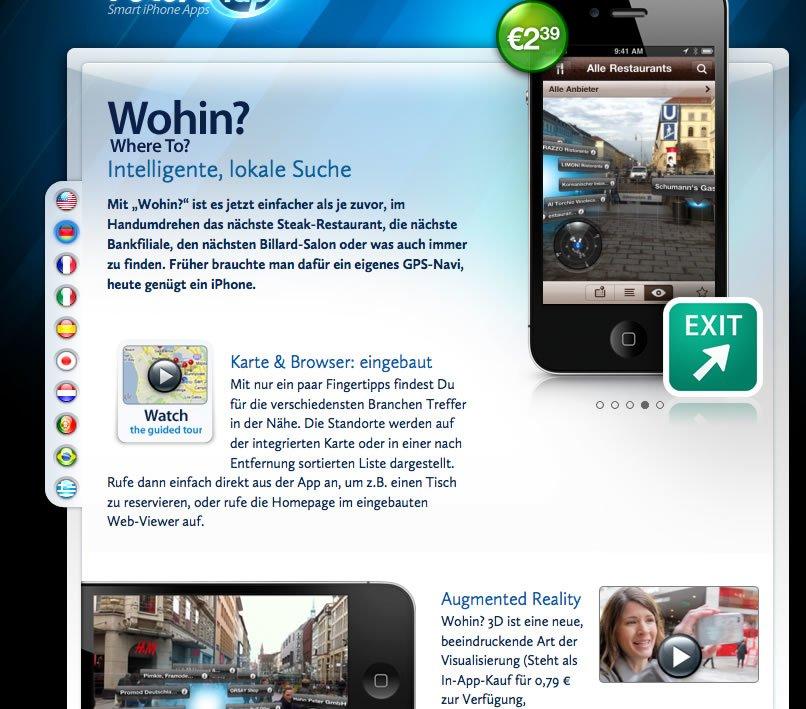 Neue Version von Wohin? App erschienen