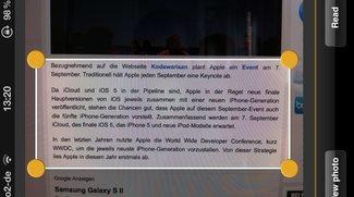 Texterkennung mit iPhone: TextGrabber im Test