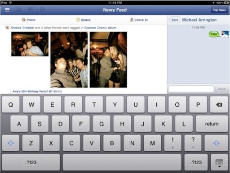 Facebook-App für iPad am 22. September?