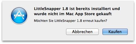 Mac App Store warnt vor neuer alter Software