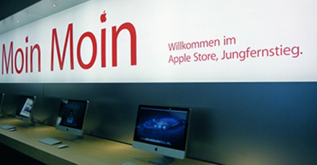 apple store in hamburg erste fotos aus der neuen filiale giga. Black Bedroom Furniture Sets. Home Design Ideas
