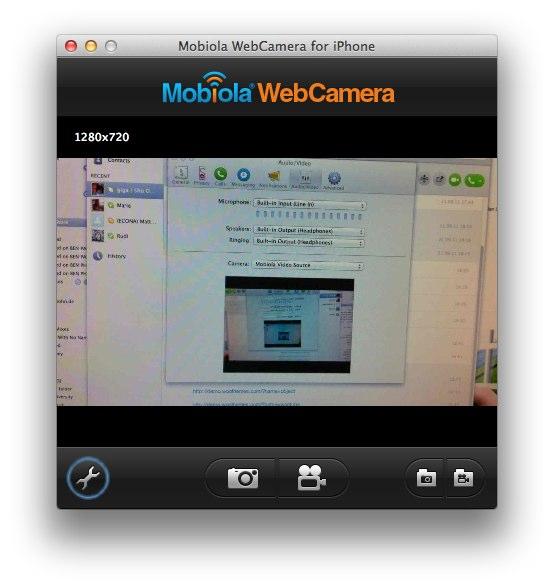 mobiola webcam for Crack