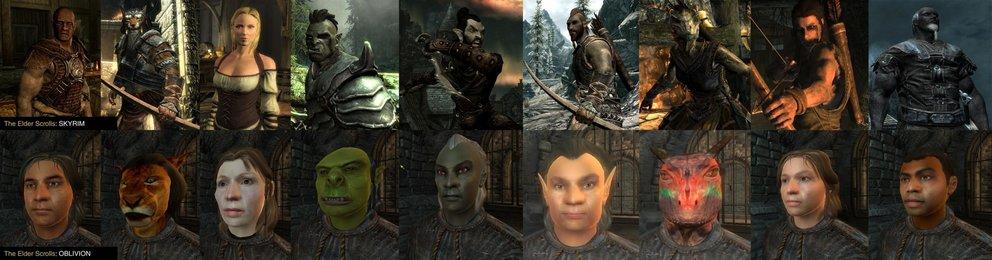 Vergleich zwischen Skyrim und Oblivion
