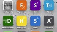 iPhone-Einstellungen auf dem Homescreen: Schnellzugriff einrichten