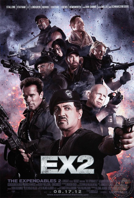 The Expendables 2 - Testosteron-Alarm: Das erste Poster ist da!