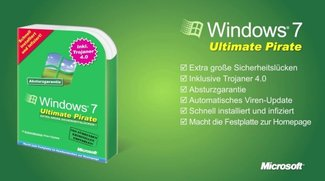 Betthupferl: Windows 7 Ultimate Pirate inklusive Trojaner 4.0