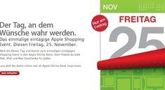 Black Friday: Sonderangebote im Apple Store an kommenden Freitag