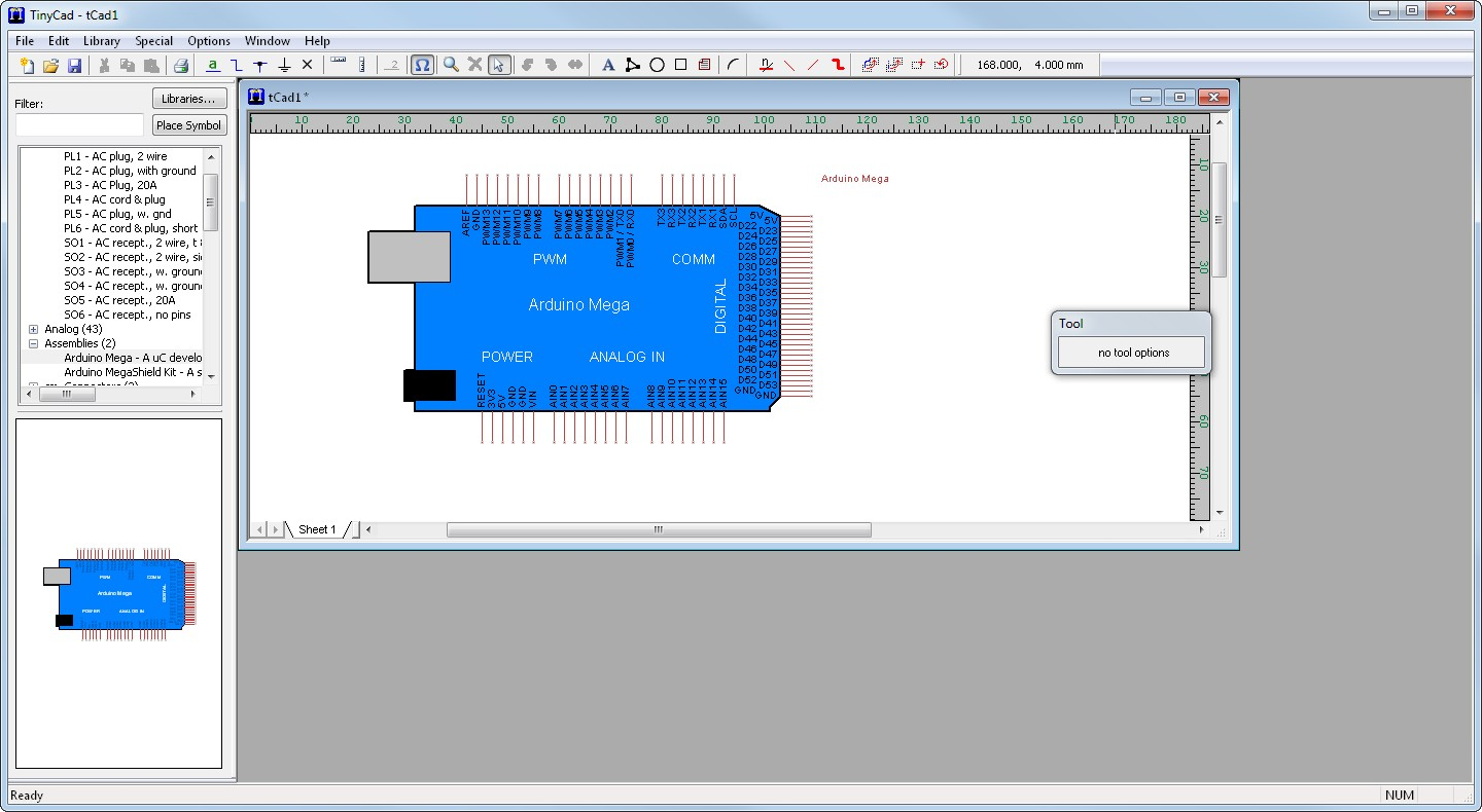 Summary -> Tinycad Electronic Circuit Drawing Software Electronic