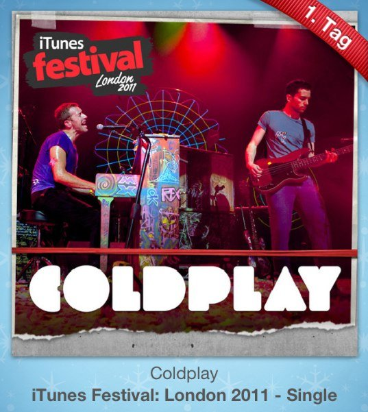 12 Geschenke: Kostenloses Coldplay-Minialbum zum Start