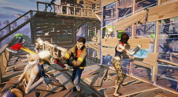 Einer der ersten Screenshots, die vor einigen Jahren zu Fortnite veröffentlicht wurden. Zuerst waren die Bauelemente da, danach wurden die Kämpfe entwickelt.