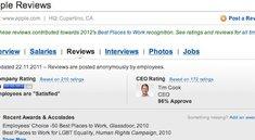 Mitarbeiterzufriedenheit: Apple auf Platz zehn aller US-Unternehmen - 96 Prozent Zustimmung für Tim Cook