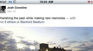"""Facebook 4.1: App-Update bringt Anbindung an """"Chronik"""""""