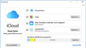 iCloud Control Panel for Windows