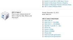 Updates: iOS 5.1 Beta 2 und iTunes 10.5.2