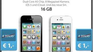 iPhone 4S 16 GB mit Telekom-Tarif für 1 Euro Zuzahlung