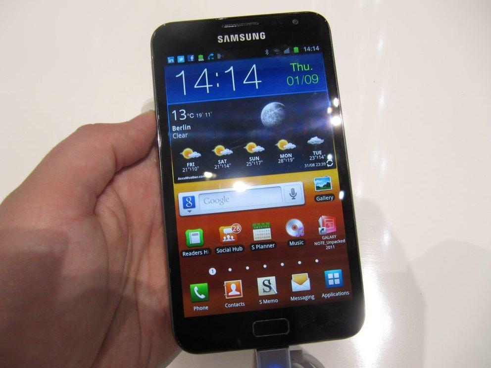 Samsung Galaxy Note: Android 4.0-Update kommt erst im zweiten Quartal