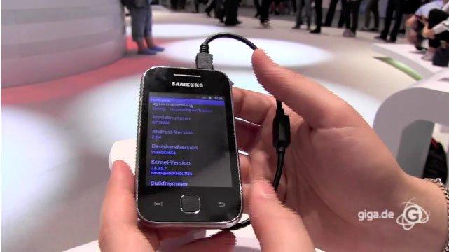 IFA 2011: Samsung Galaxy Y Hands-On