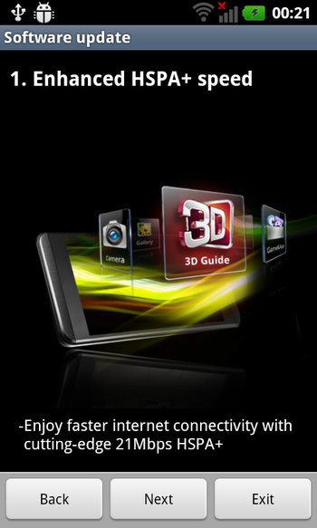 LG Optimus 3D Gingerbread-Update