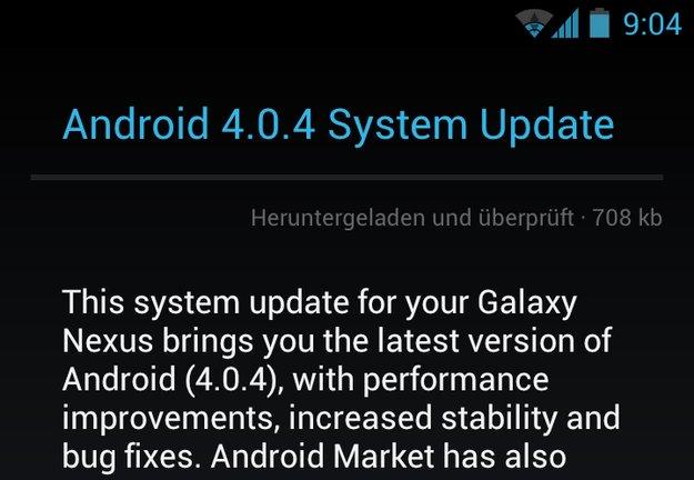Galaxy Nexus: Kleines Update mit Bugfixes wird ausgerollt