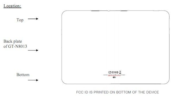 Samsung GT-N8013: Neues Samsung Tablet besucht die FCC