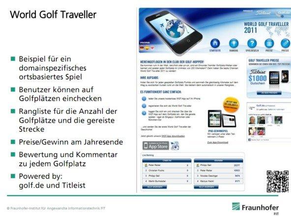 """""""Benutzer können auf Golfplätzen einchecken"""" - Wer´s braucht!"""