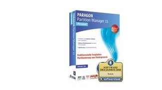 Paragon Partition Manager 11 Personal für 9 Euro
