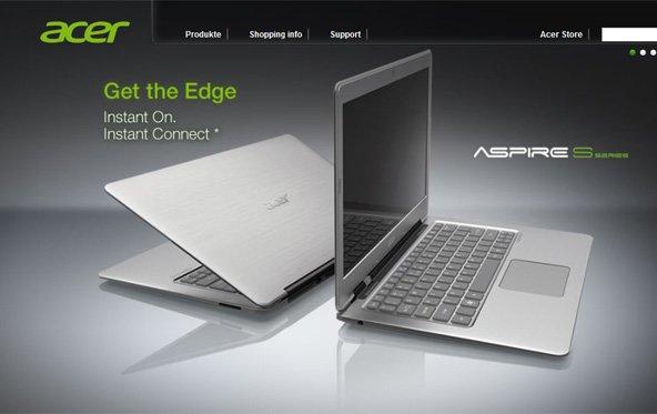 Acer - Ultrabooks sollen 2012 durchstarten