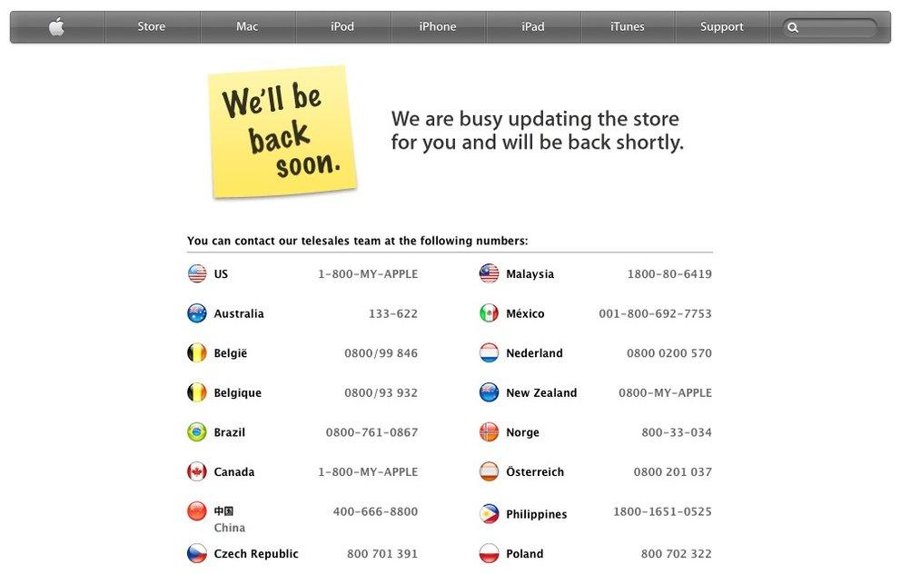 Apple Store ist offline