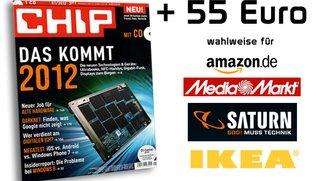 1 Jahr CHIP mit DVD für effektive 4,88 Euro dank 55-Euro-Gutschein