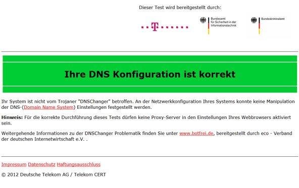 DNS Changer - Bundesamt warnt vor Schadsoftware und stellt Selbsttest online