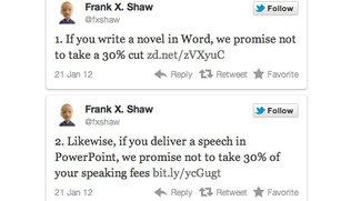 Via Twitter: Microsoft macht sich über iBooks-Author-Lizenzbestimmungen lustig