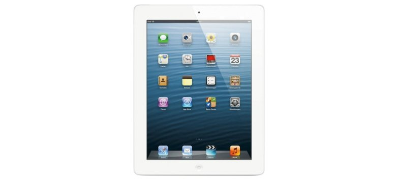 Apple iPad 4 Wi-Fi + Cellular 16 GB für 549,00 Euro