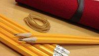 iPad-Ständer aus Bleistiften