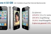 iPhone 4 mit 32 GB Speicher und Vodafone Daten-Flat für 19,95 Euro im Monat