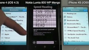 Windows-Phone-Nokia gegen iPhone 4/4S: Klarer Sieg für Apple im Browser-Test