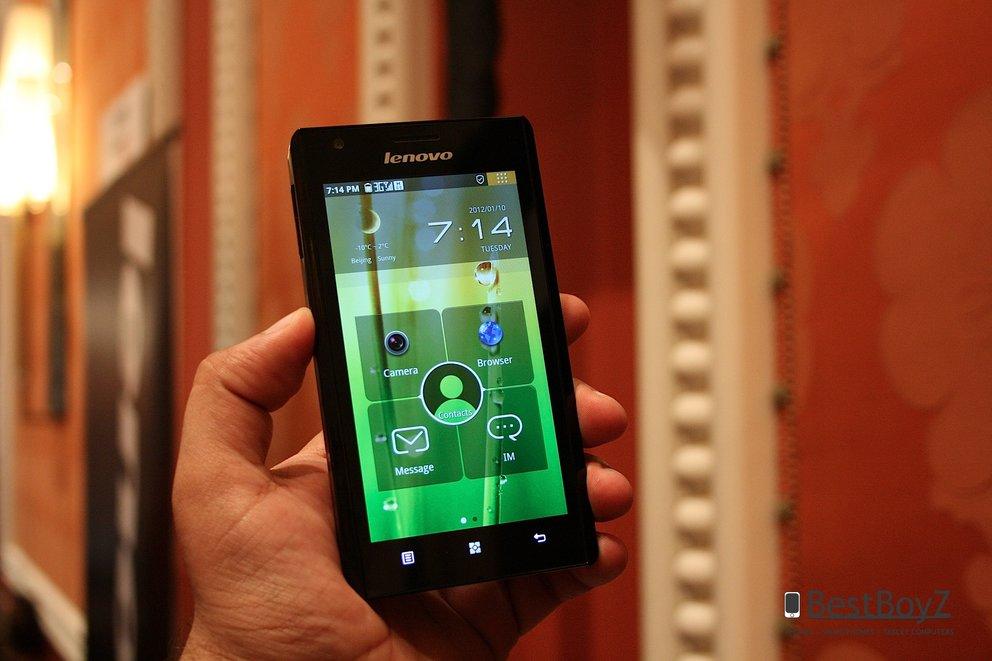 Lenovo K800: Android Smartphone mit Intel Atom-Prozessor auf der CES 2012