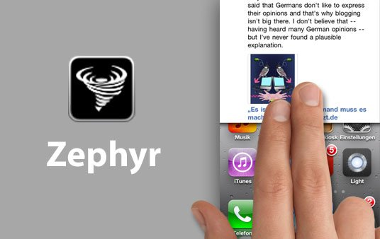 App of the Day: Zephyr [Best of Cydia]