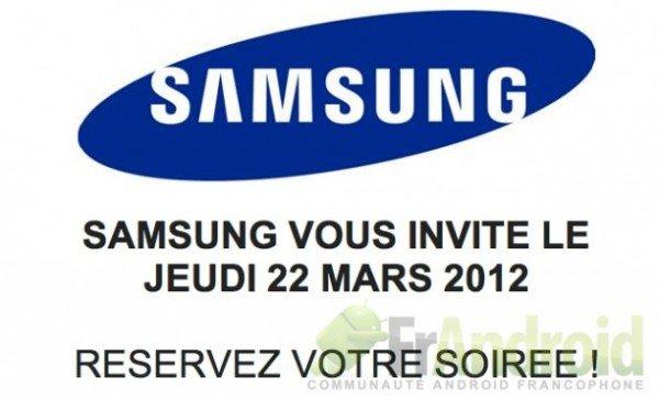 Samsung lädt zu einem Presse-Event am 22. März ein